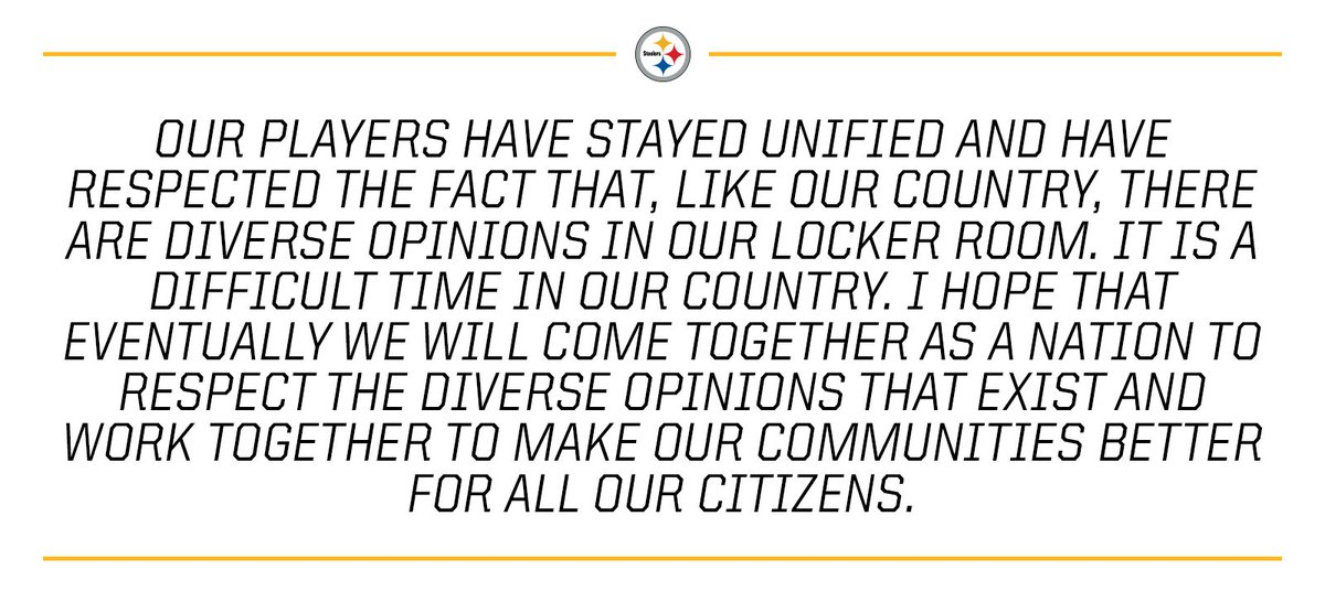Statement from #Steelers President Art Rooney II: