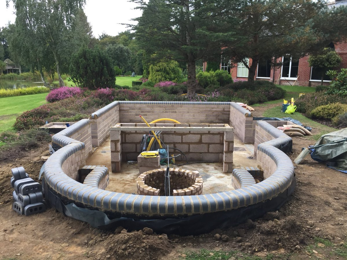 "Joe Taylor on Twitter: ""This sunken seating area, fire pit ..."