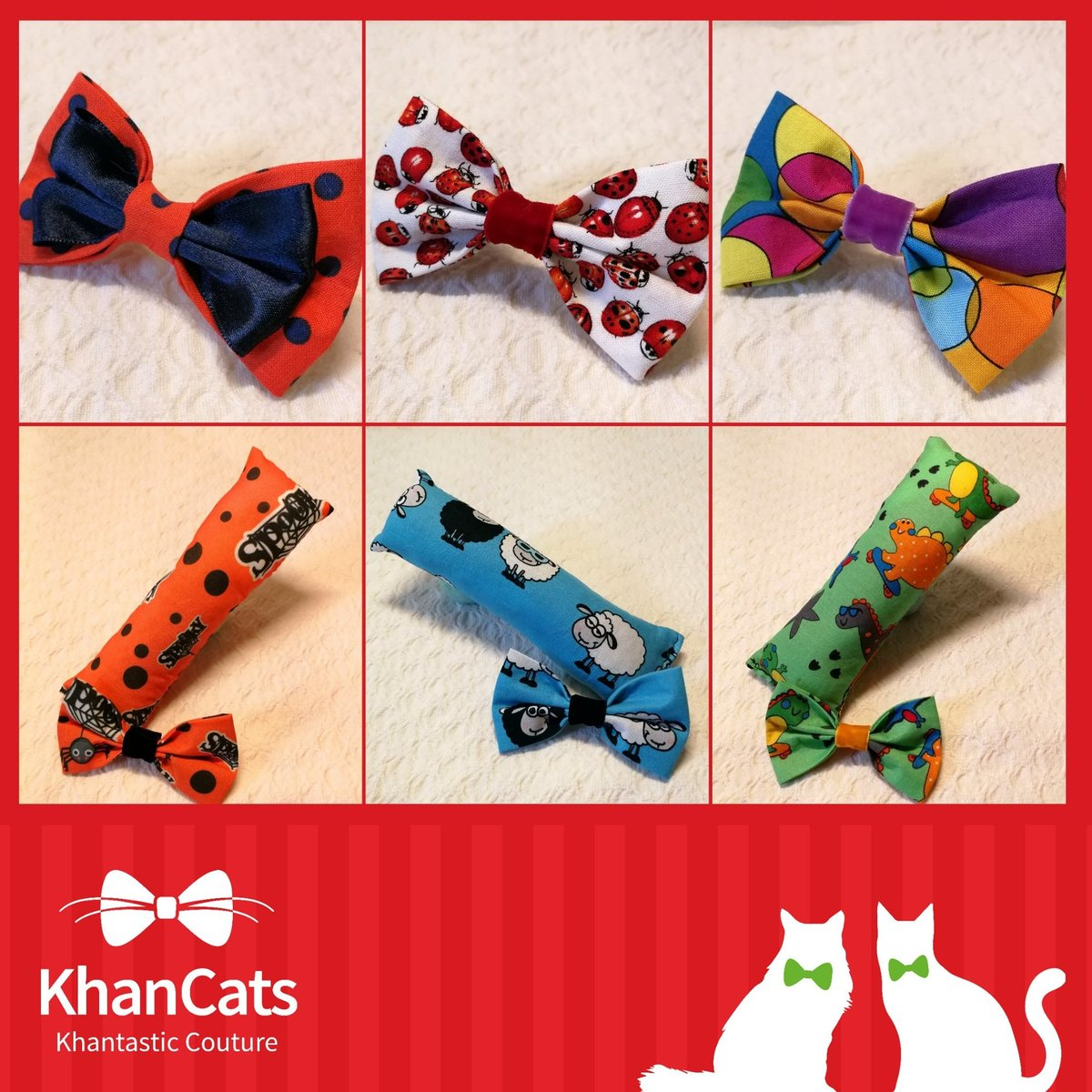 #AutumnIsComing &amp; we have new spooky, cheerful &amp; funny #bowties &amp; catnip toys in our KhanCats #etsy  http:// etsy.me/2hmrwHW  &nbsp;   #CatsOfTwitter <br>http://pic.twitter.com/KklyeeHEx0