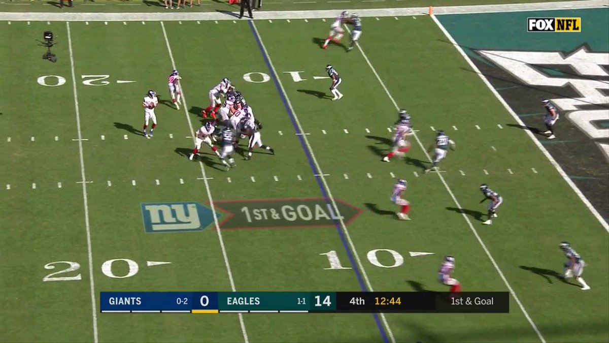 WATCH: @OBJ_3 put the Giants on the board with a TD catch from Eli Man...