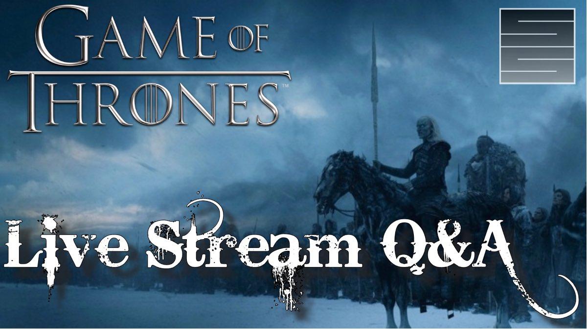 #GameOfThrones #GoTS8 Live Stream and Giveaway!  https:// youtu.be/lt0Q26ZQ43o  &nbsp;   10:30 EST #GameOfThronesSeason8 #WinterIsHere<br>http://pic.twitter.com/wFaxT8uAsn