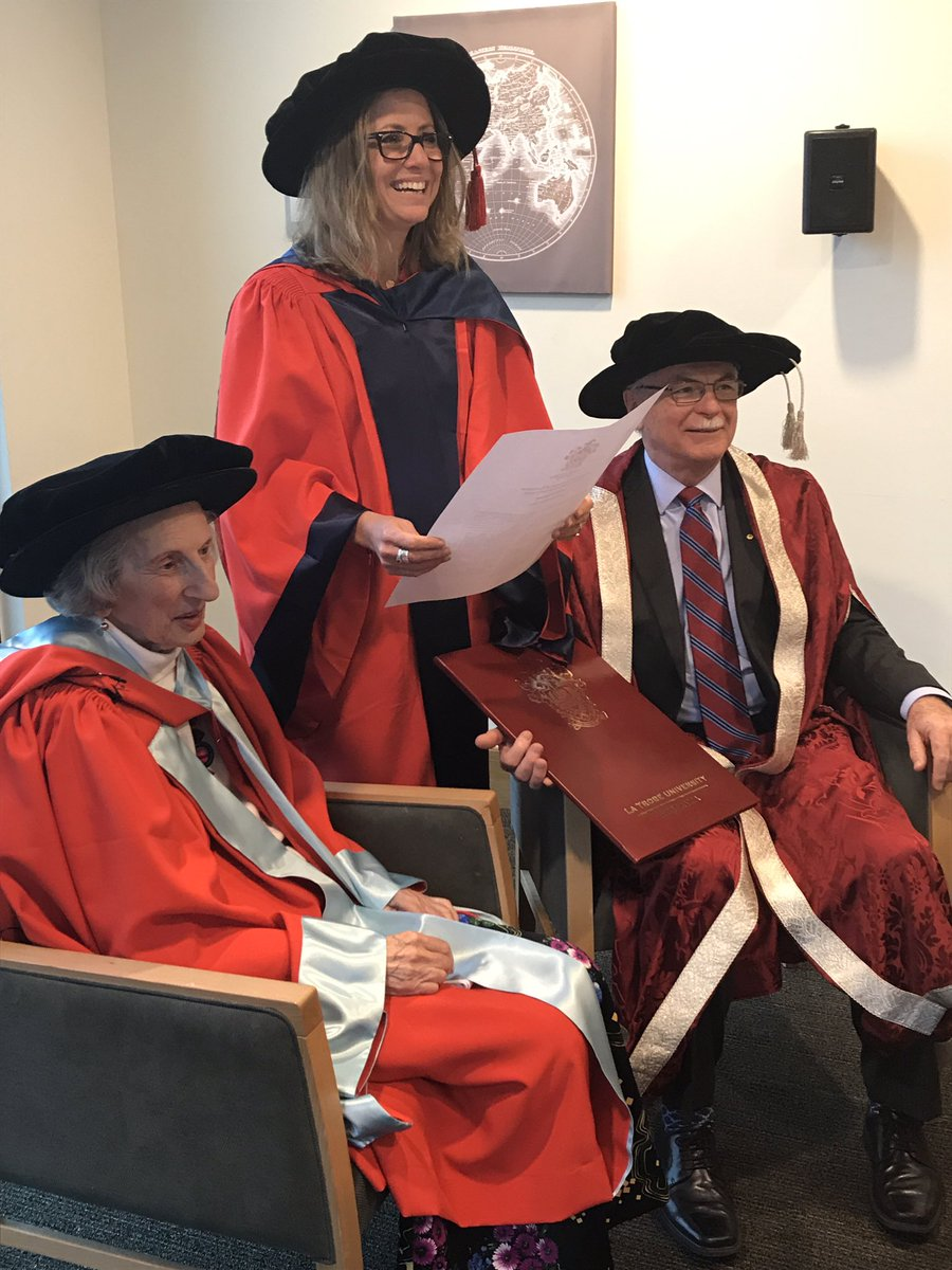 The wonderful women&#39;s activist Zelda D&#39;Aprano has confirmed upon her a degree of doctor of letters from @latrobe #justice #wonderfulwomen<br>http://pic.twitter.com/onCTpLAmXJ