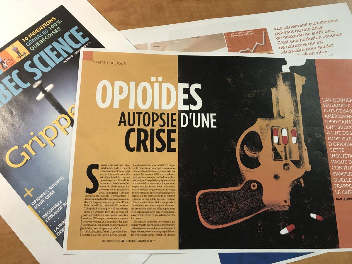 Pour poursuivre la réflexion, surveillez notre reportage sur la crise des opioïdes. En kiosque le 5 octobre! #fentanyl #TLMEP