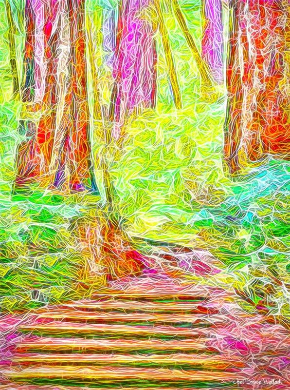 Deeper insights emerge when you explore the possibilities. New #healing #art from Joel.  https:// fineartamerica.com/featured/stair way-through-the-redwoods-tamalpais-california-joel-bruce-wallach.html &nbsp; … <br>http://pic.twitter.com/oUVSMQ6o0a