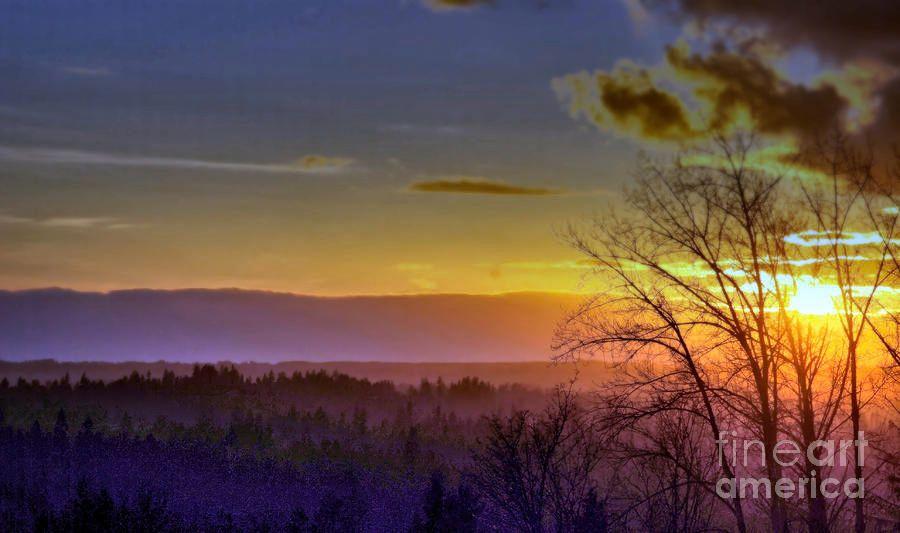 Foggy Sunset by Victor K #quietness  #fineart #romantic #landscape #big #WallArt  #sunset #summer #evening #clouds  https:// buff.ly/2hqNhoV  &nbsp;  <br>http://pic.twitter.com/EpzBcaYd3m