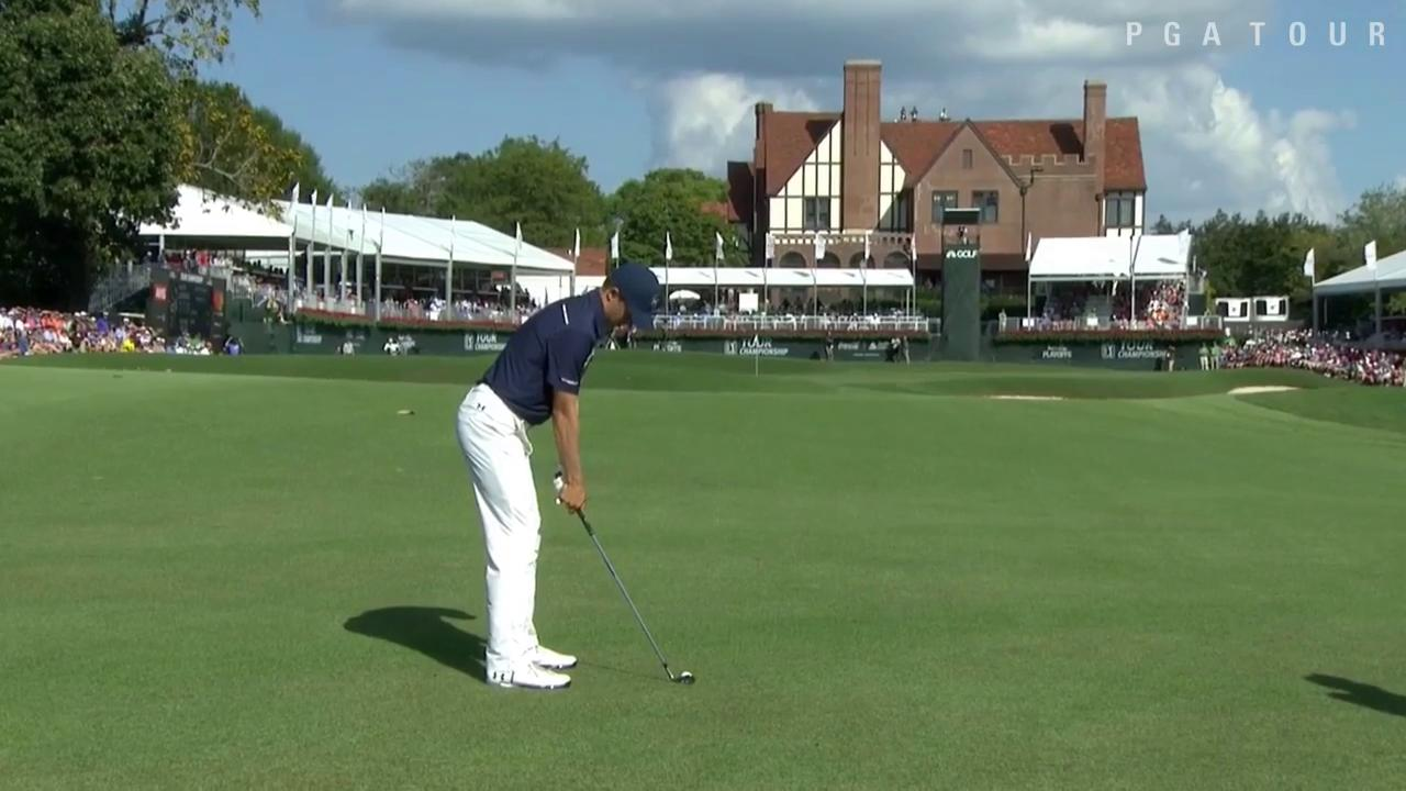 A birdie at 18 would help @JordanSpieth's #FedExCup chances.  He'll have a good look at one. #QuickHits https://t.co/CXfPMDF16V