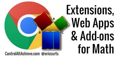 20 Chrome Extensions, Web Apps, and Add-ons for Math  http://www. controlaltachieve.com/2016/10/math-e xtensions-apps-addons.html &nbsp; …  #edtech <br>http://pic.twitter.com/kpmtEKJPUe