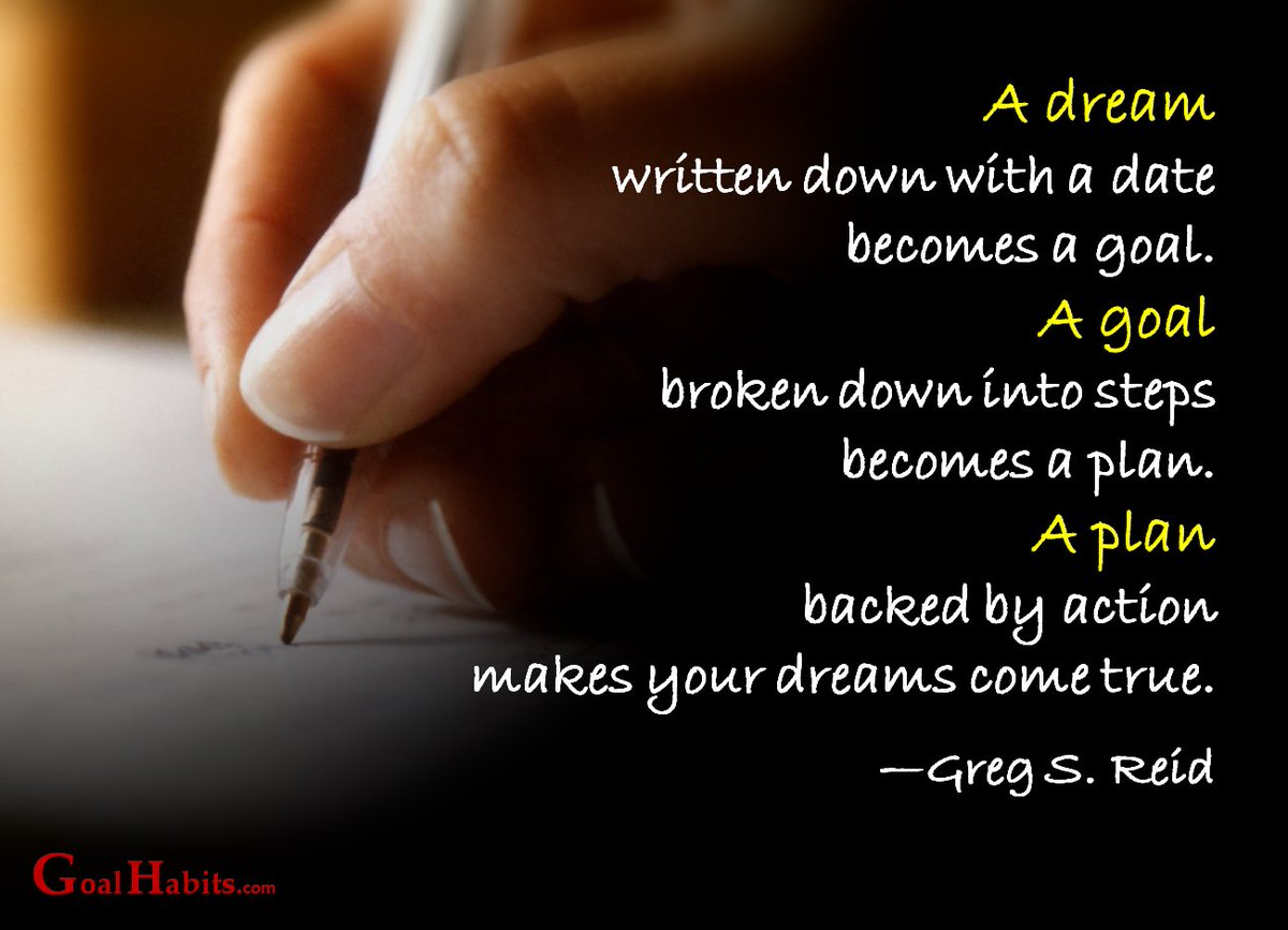A #dream written down with a date becomes a #Goal... ~ #Quotes #Action #ThinkBigSundayWithMarsha #Health #Fitness #Vegan #Food #Style #Life<br>http://pic.twitter.com/mhfgRiUsgS