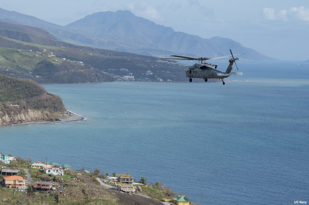 US Navy releases photos of evacuation efforts for US citizens on Dominica following devastation from Hurricane Maria https://t.co/FVDU3ax91V