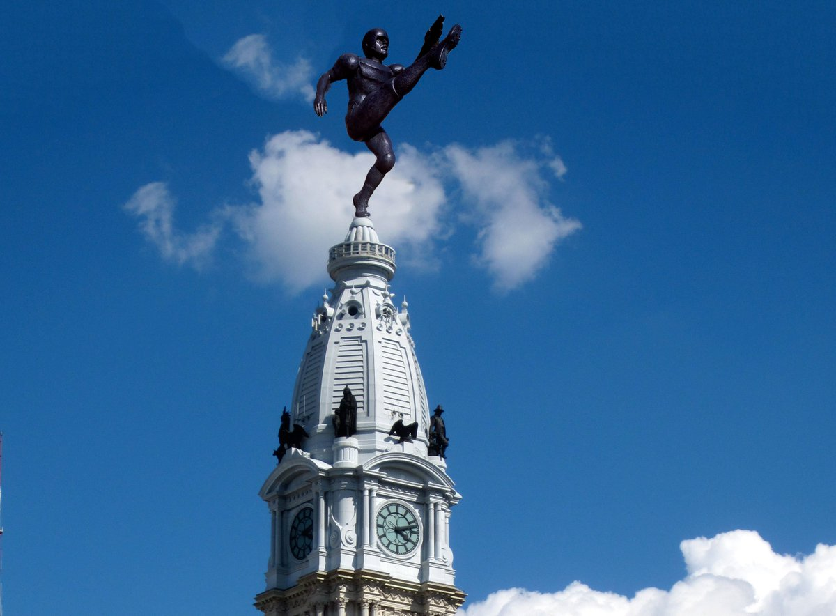 The City of Philadelphia has already erected a Jake Elliott statue ato...