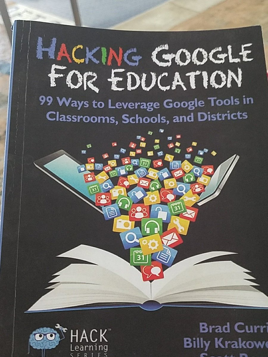 Loving this book and all of its easy to implement hacks! Harness Google &amp; Save Time! @ScottRRocco @wkrakower @bradmcurrie #edtech #Google<br>http://pic.twitter.com/EYrd0AivGP