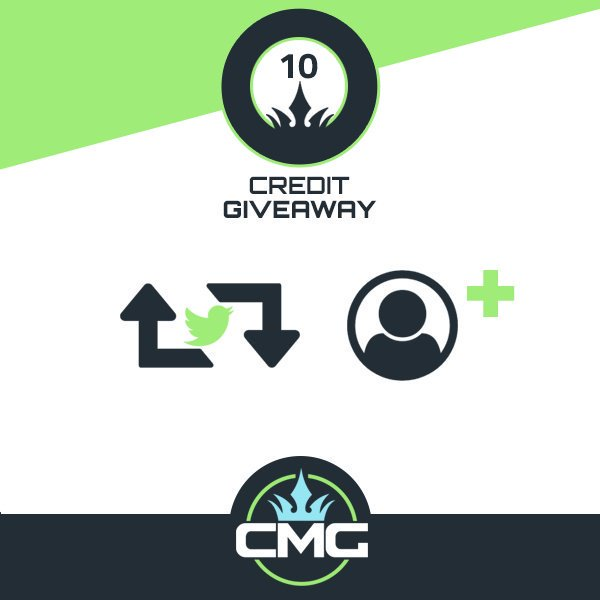 CMG 10 CREDIT #GIVEAWAY  1) Retweet  2) Follow @CMG_eSports  3) Tag A Friend  Winner Announced 7:00 EDT 9/24/17<br>http://pic.twitter.com/ykjFczs1zM