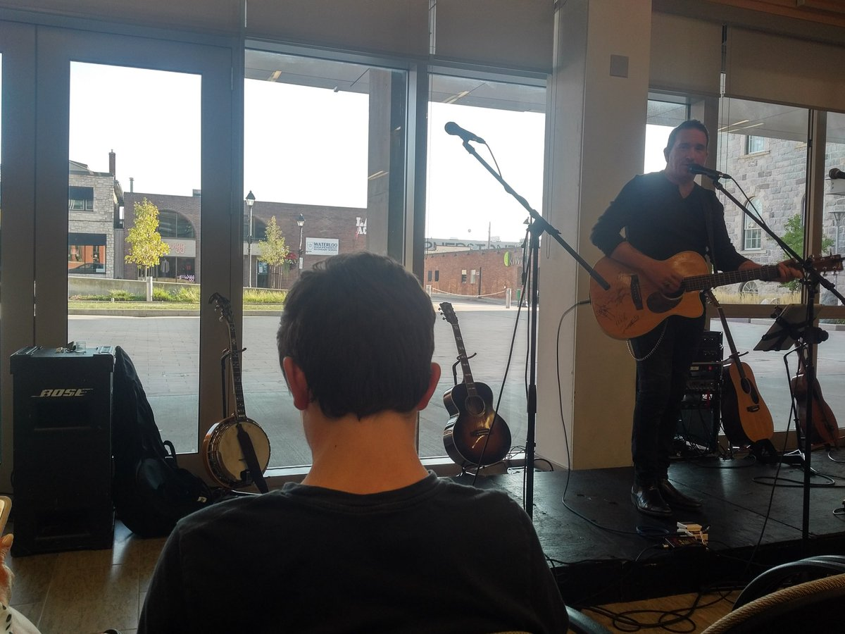 Enjoying the music of  @scottykipfer at the kickoff for the @CambFoodBank Thanksgiving drive #community #giving #cbridge<br>http://pic.twitter.com/035hiviir4
