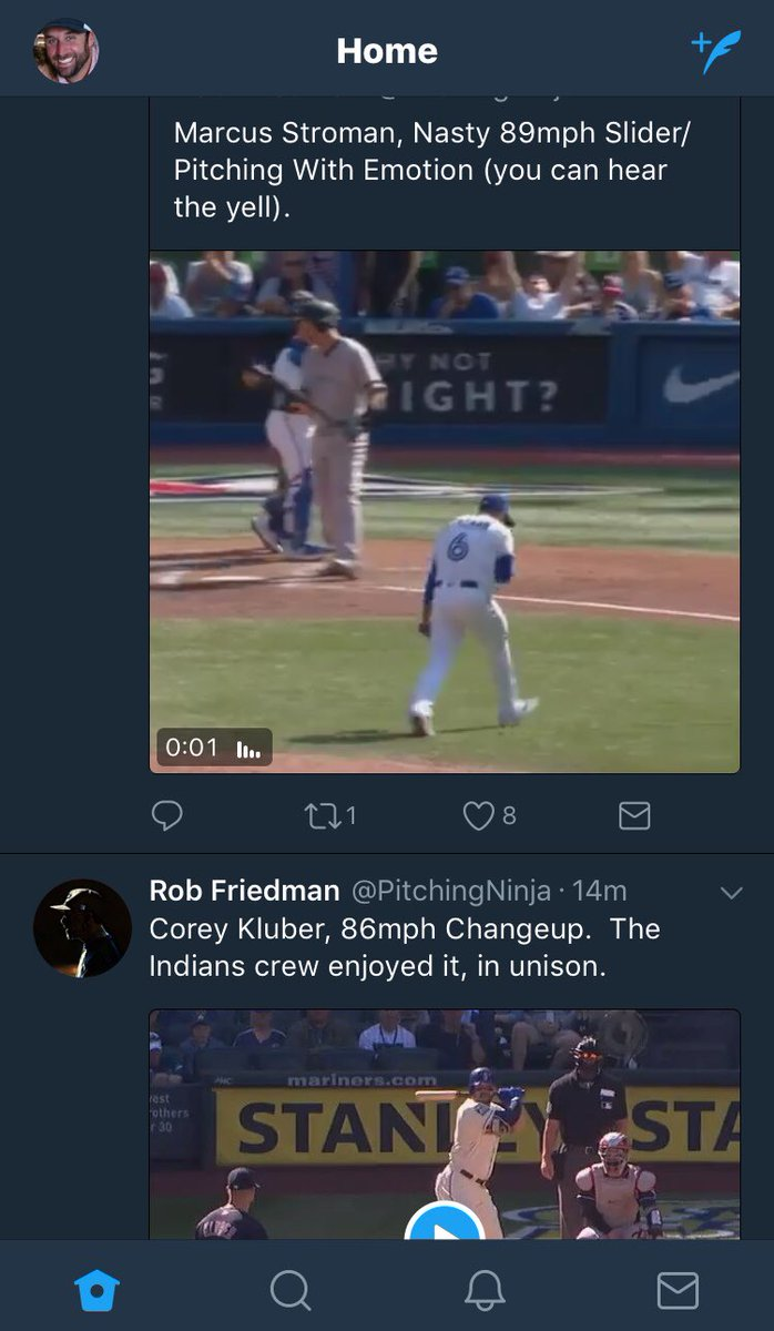 Love these two @PitchingNinja Gifs. Stroman pitches with emotion, Kluber without.  Neither is wrong.  Both are themselves. #BeYou <br>http://pic.twitter.com/gpLSj7QlAK