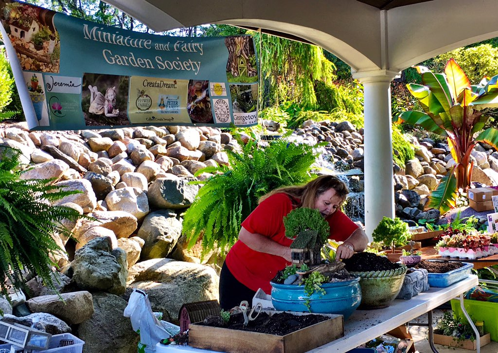Great time this morning in Michigan with @greenblessings .. join the event w/ us Miniature and Fairy Garden Society. #gardenchat