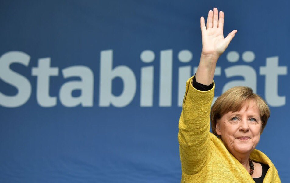 Angela #Merkel welcomed more than a million #refugees into Germany and just won a 4th term as Chancellor. Fear doesn't win <br>http://pic.twitter.com/itRJeahmtK