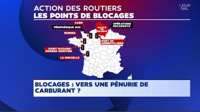 EN DIRECT - Grève des routiers ce lundi : environ 50 points de blocage attendus, suivez la situation en temps réel https://t.co/ZK20PjwZKE