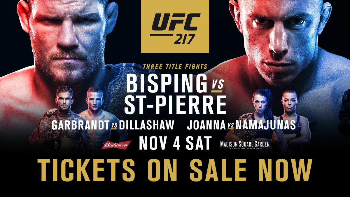 READY? SET?  #UFC217 tickets are on sale NOW  GO! �� https://t.co/SQYtbvxa1i https://t.co/34PpkQ73sD