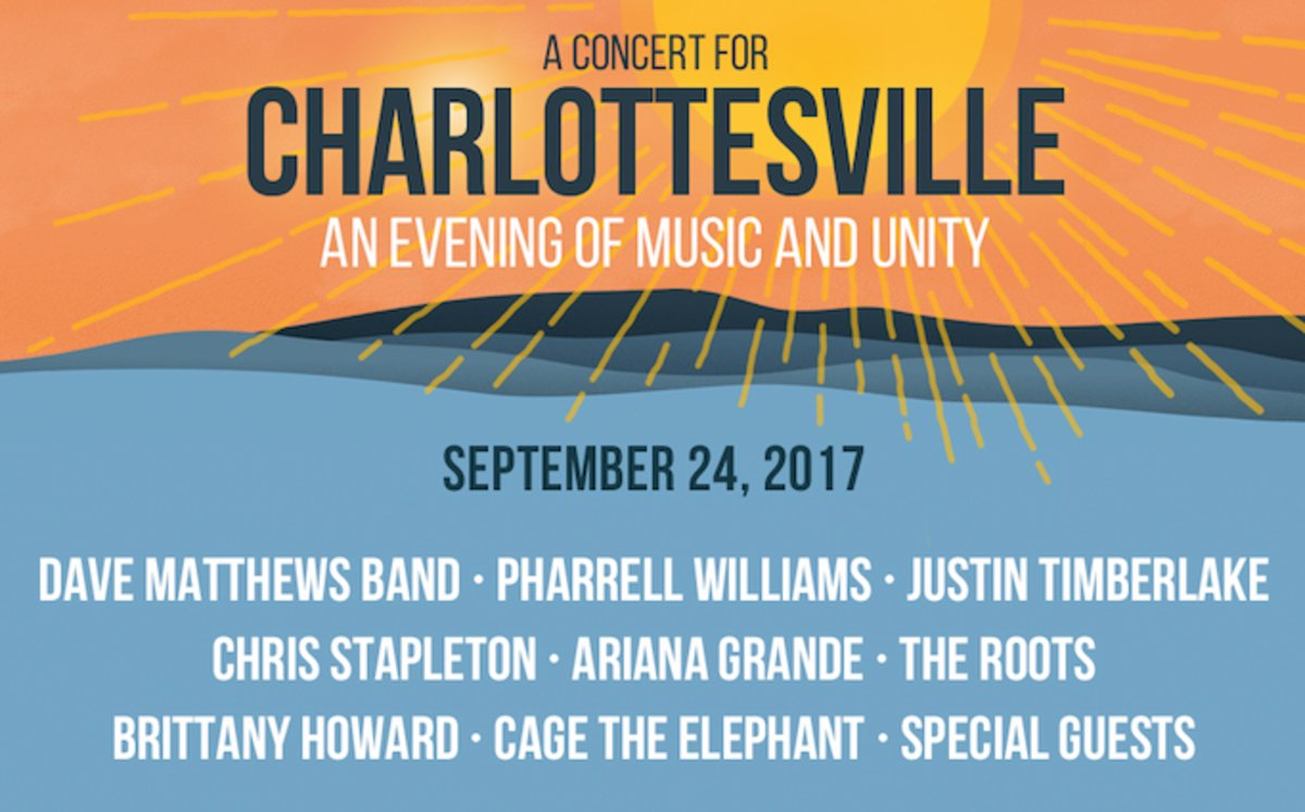 Watch 'A Concert for Charlottesville' w/ Ariana Grande, Justin Timberl...
