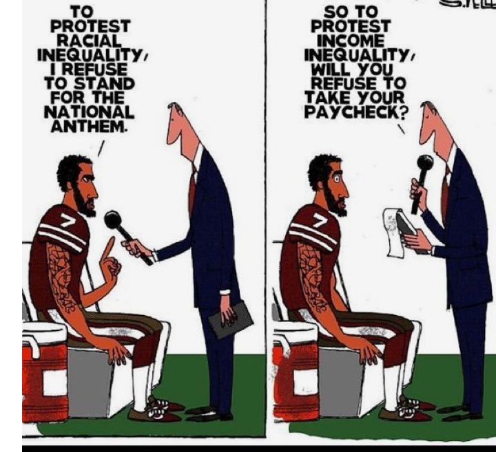 So to protest income equality will you refuse your paycheck?   #TakeAK...