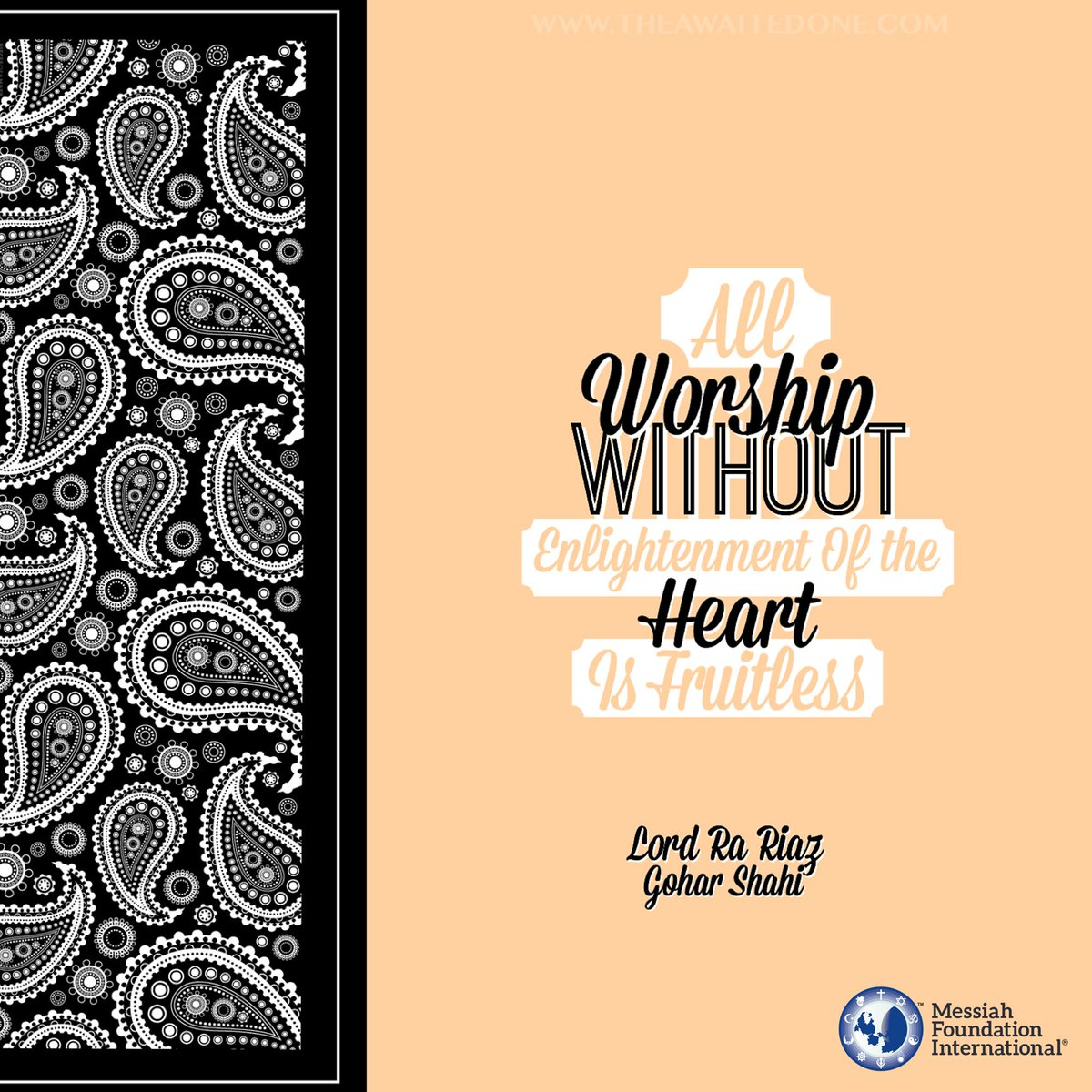 &#39;All #worship without #enlightenment of the #heart is #fruitless.&#39; - #LordRaRiaz #GoharShahi ( http:// thereligionofgod.com / &nbsp;  )<br>http://pic.twitter.com/qBUMNEVECD