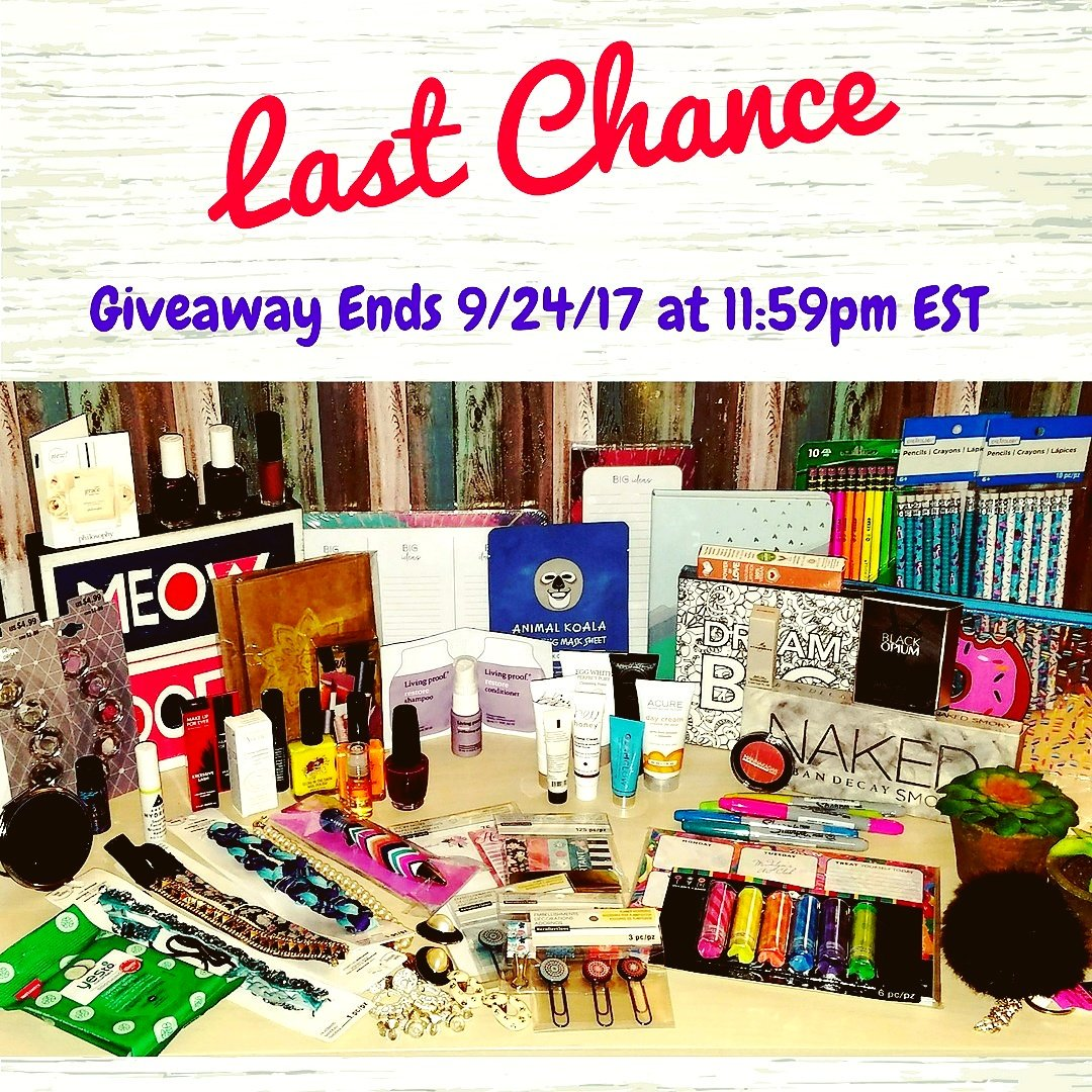 This is your #LastChance to enter.  All entries need to be on by 11:59pm EST #TONIGHT details on #Facebook #SundayFunday #giveaway #contest<br>http://pic.twitter.com/a5iMBn3kHK