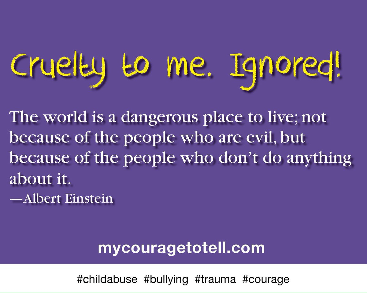 Ignoring a child when there are complaints of #bullying is devastating. #Parents should protect all their children!   https://www. mycouragetotell.com  &nbsp;  <br>http://pic.twitter.com/wirnHT4hvn