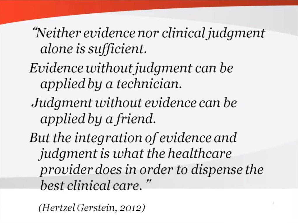 Great quote #ebm #evidencebasedmedicine #clinicaljudgement #criticalappraisal #clinicalguidelines #FOAMed<br>http://pic.twitter.com/sKKfUACDFV