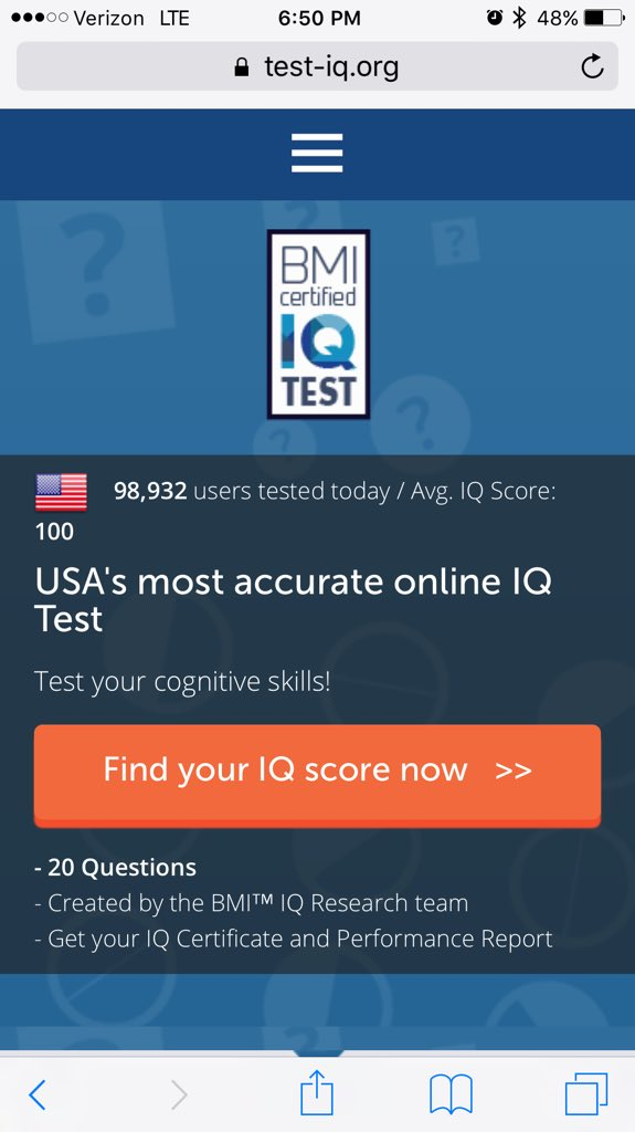 Bmi Iq Test