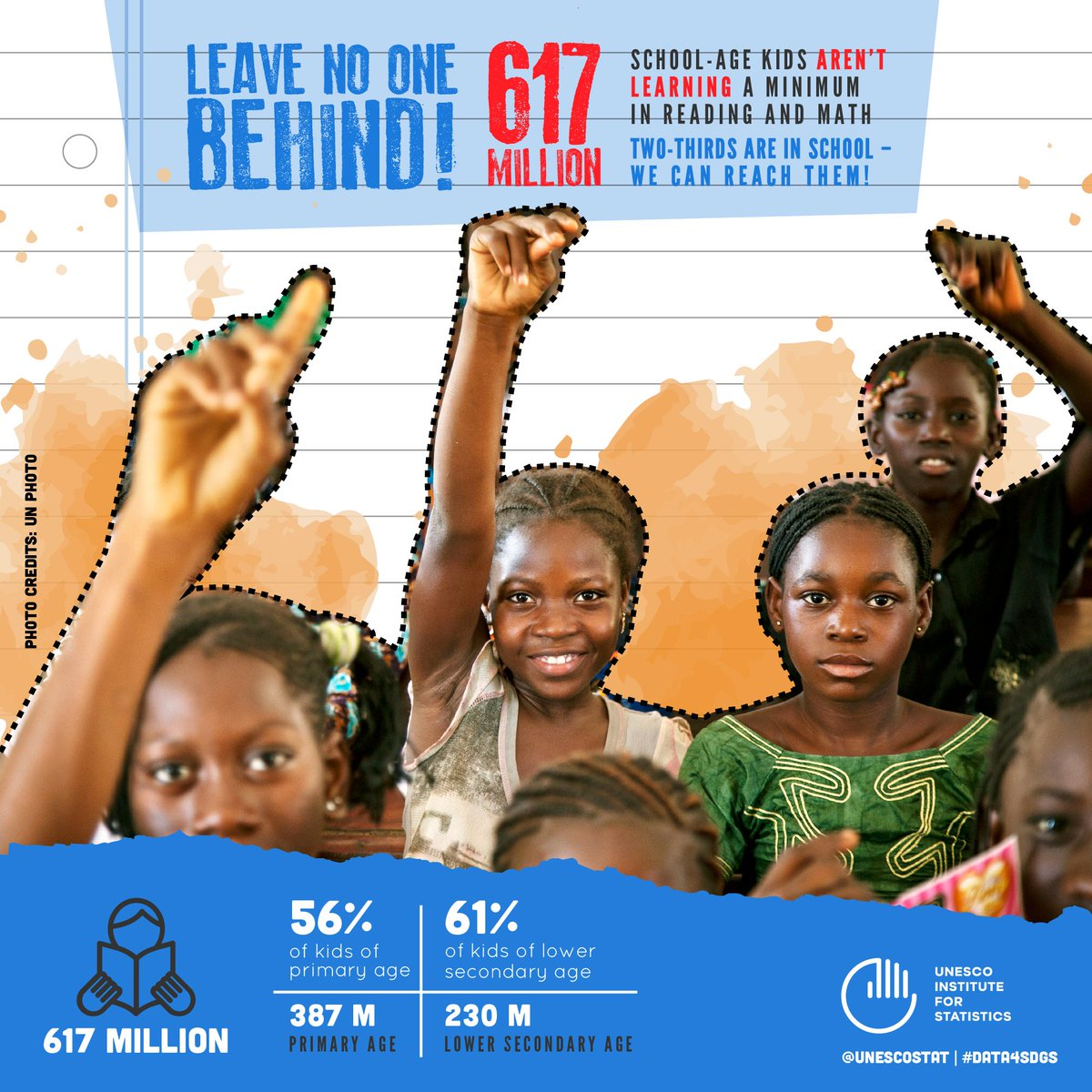 More than one-half of children and adolescents are not learning worldwide.  New data from @UNESCOstat   http:// on.unesco.org/2fpU5WP  &nbsp;   #Education <br>http://pic.twitter.com/lIeIRs6fMU