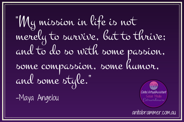 &quot;My mission in life is not merely to survive, but to thrive; and to do so with some....  #AVA #VA #HomeOffice #Success<br>http://pic.twitter.com/HSTXihTuJN