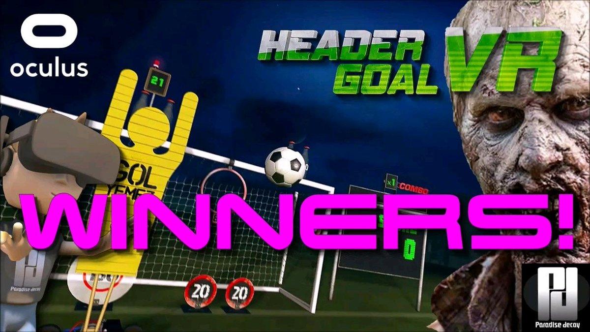 Watch &quot;HEADER GOAL #VR - Winners!&quot; on YouTube  https:// buff.ly/2xouXqy  &nbsp;  <br>http://pic.twitter.com/q6dNbtzPR1