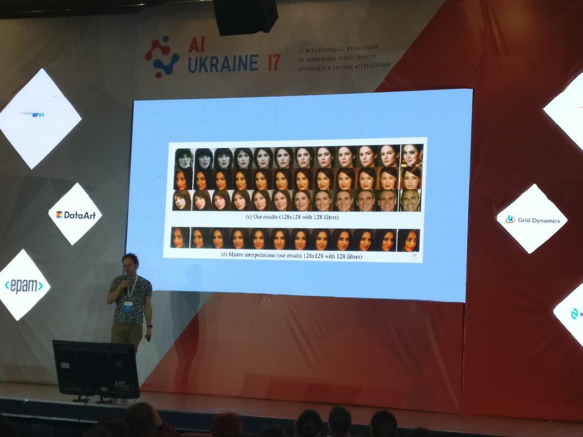 @GrantReaber talking about BEGAN at AI Ukraine 17. Photo courtesy of @ilblackdragon