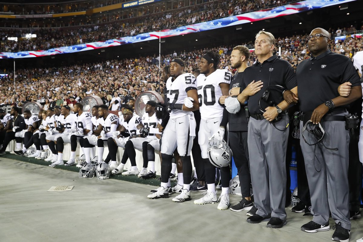 More than 150 NFL players have either sat or kneeled during the National Anthem Sunday.