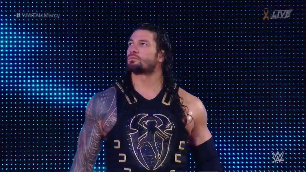 Is @WWERomanReigns about to make #WWENoMercy HIS YARD? @JohnCena https...