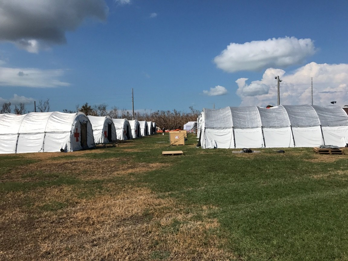 @prepared4itssf@SSFFire@CityofSSF  supporting #IrmaRecovery base camp in the FL Keys w/@RedCross!! Temps &amp; humdity high, getting it done!!<br>http://pic.twitter.com/Q7gAPksNsS
