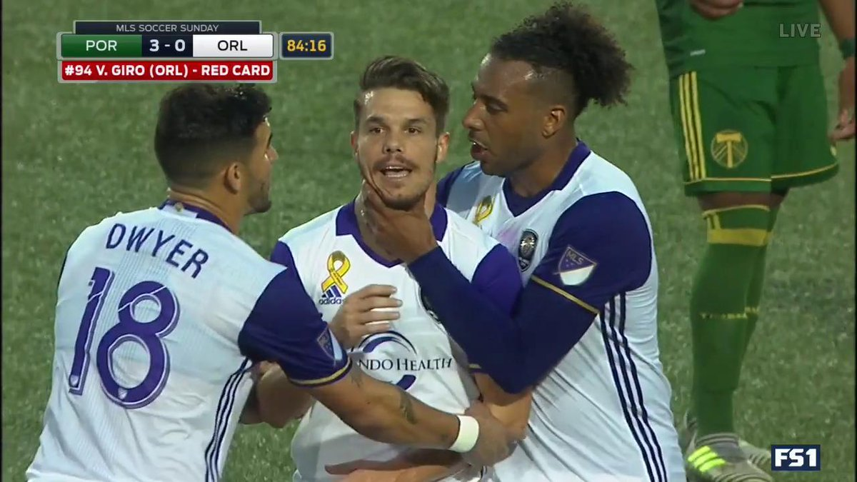 Another RED CARD for Orlando! PC gets sent off and the visitors will p...