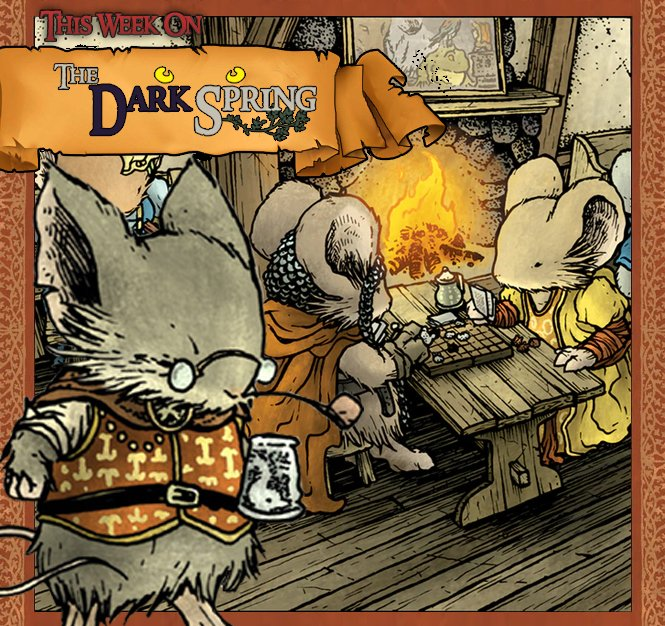 [LIVE] NOW! #TheDarkSpring Ep 7 &quot;The Problem Daughter&quot;! -- #MouseGuard #RPG! #DnD   http:// twitch.tv/ExplodingDice  &nbsp;    #Twitch #SUBtember<br>http://pic.twitter.com/wVVswiYlse