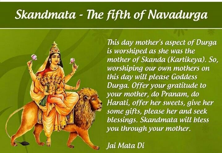 #स्कंदमाता Mother of Kartikeye,Praying 2ths form of #माँ bring One skills along wid innocence,Courage along wid Compassion #MondayMotivation <br>http://pic.twitter.com/sI3buvZYXk