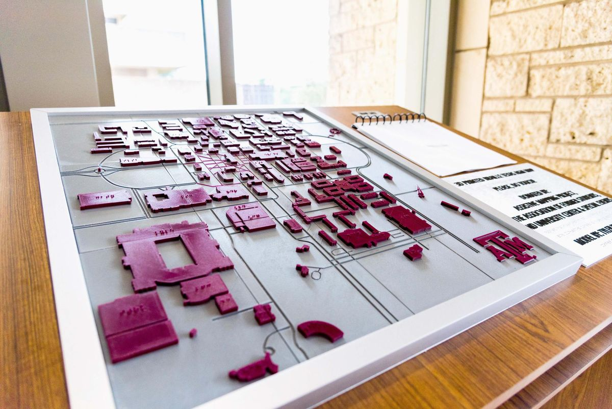The Battalion On Twitter A 3d Braille Map Of A M S Campus Designed
