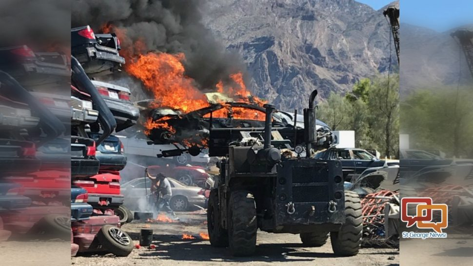 Man injured when car catches fire in salvage yard. #StGeorge #SoUtah #Utah  http://www. stgeorgeutah.com/news/archive/2 017/09/24/cgb-man-injured-when-car-catches-fire-in-salvage-yard/ &nbsp; … <br>http://pic.twitter.com/zTIDXDBLoB