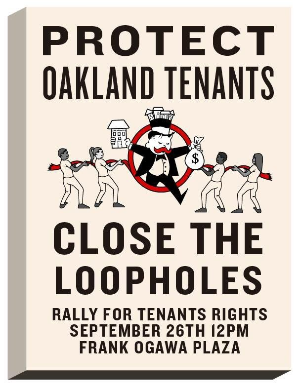 Protest Oakland Tenants - Close the Loopholes! @ Oscar Grant Plaza | Oakland | California | United States