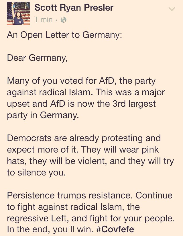 Dear Germany,  I wrote you a letter in response to your recent electio...