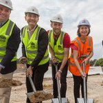 Sod Turning of Western Sydney Stadium. Exciting to know that Parramatta will be home to one of the best sporting facilities in the country.