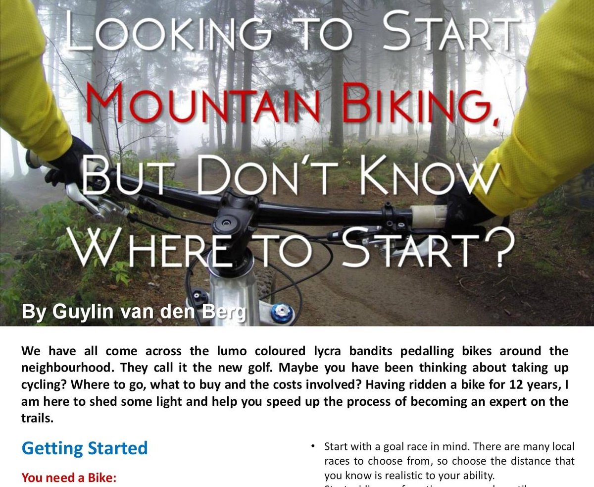 Looking to start #MountainBiking but don&#39;t know where to start? Follow @Guylin69&#39; s tips   https:// issuu.com/2luni-media/do cs/conscious_life_free_online_mag_sept/c/s9zvai6 &nbsp; … <br>http://pic.twitter.com/mPVDMNarAv
