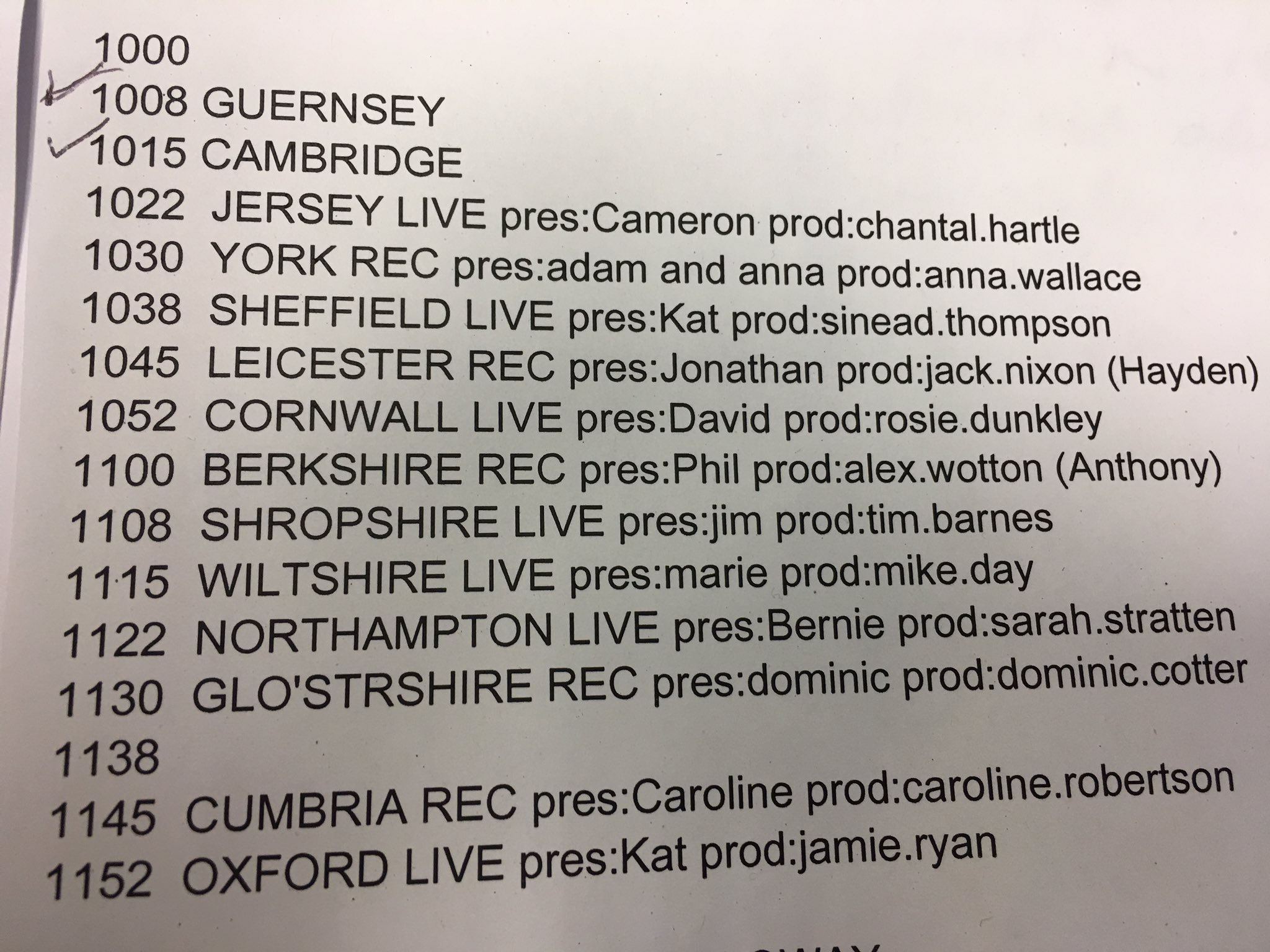 Listen out for me on your local bbc radio here's the list: https://t.co/Qk1XmYaKNe