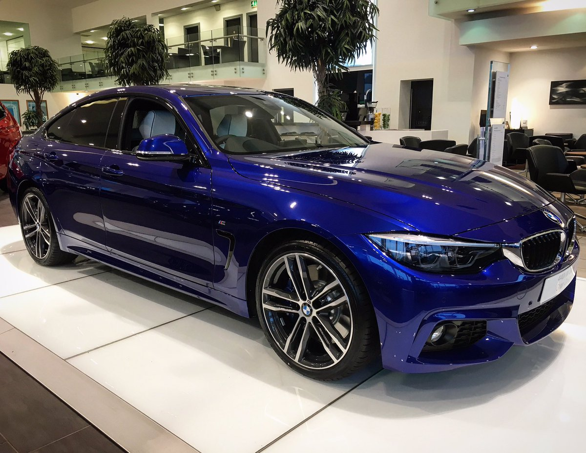 Bavarian Belfast On Twitter Available Now This Gorgeous BMW 440i M Sport Gran Coupe In IndividualTM San Marino Blue With Opal White Merino Leather