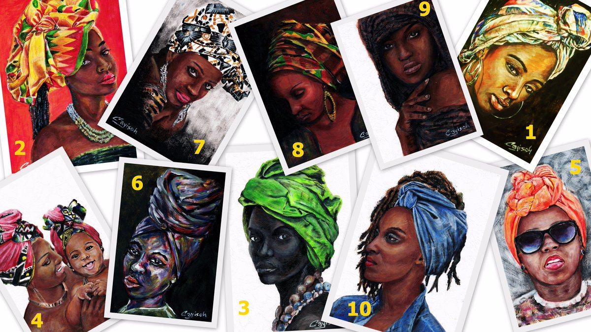 Kindly reply with your favourite! #HeadWrapArtChallenge by #CayisohArt #Art #contemporaryart #fashion #HeritageDay<br>http://pic.twitter.com/Y4PvMzaXjq