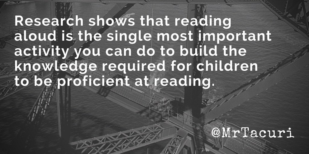 Reading aloud to children is the best way to help them be successful at reading. #edchat #edtechchat #aussieED #MyEdOz #gegsyd #acuedu_p<br>http://pic.twitter.com/v22qa5PQj1