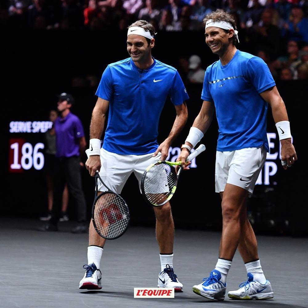 Les deux meilleurs joueurs de ce début de siècle, Roger Federer et Rafael Nadal, ont fait la paire ce week-end pour la Laver Cup ! 😍